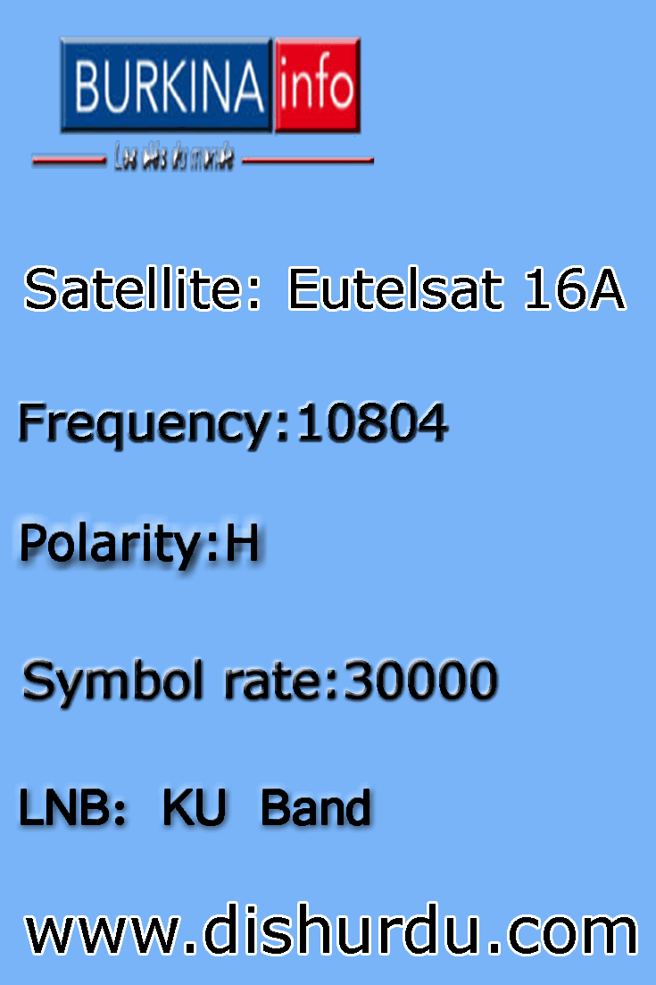 Eutelsat 16A: 16 0° East Channel Frequency Satellite